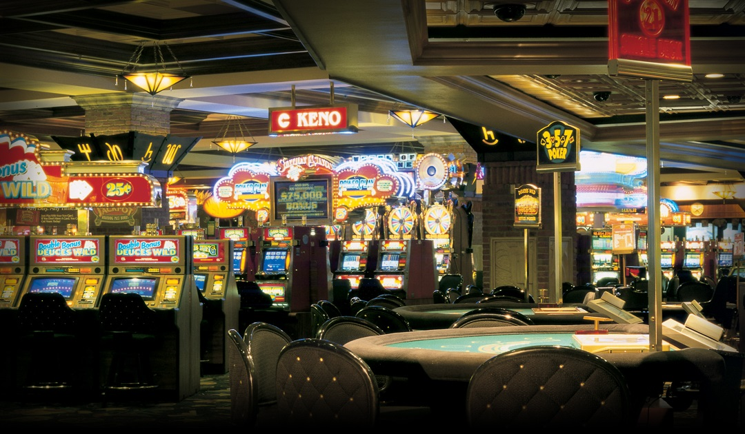 Main casino floor inside Texas Station Gambling Hall & Hotel