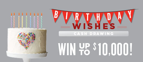 Birthday Cash Drawings