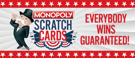 Monopoly Scratch Cards